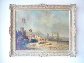 Eugene Isabey. Framed oil on canvas