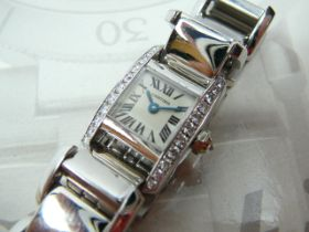 Ladies White Gold Cartier Wristwatch