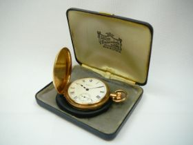 Gents Gold Waltham Hunter Pocketwatch