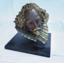 Shakespeare and mask by Lydia Karpinska