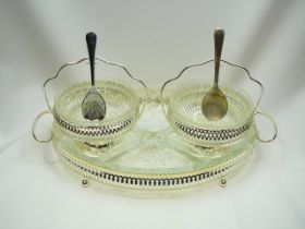 Silver plated serving bowls