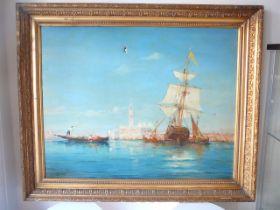 Charles Clement Calderon. Framed oil on canvas