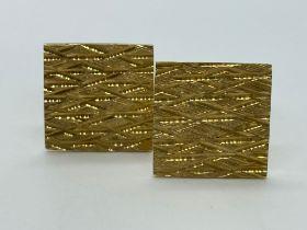 9ct gold cufflinks