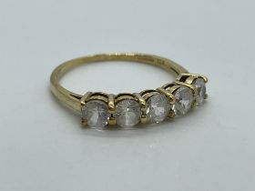9ct gold CZ ring