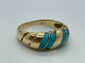 14ct gold turquoise ring