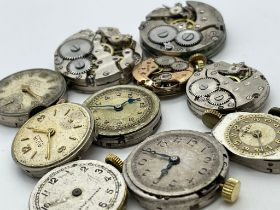 10 assorted ladies watch movements