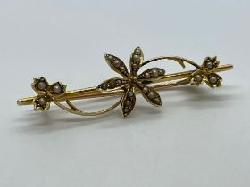 15ct gold pearl brooch