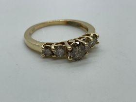 14ctgold salt and pepper diamond ring