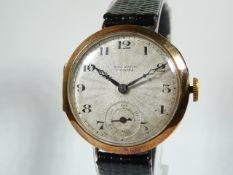 Gents Antique Gold Wrist Watch
