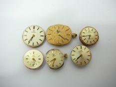 6 ladies Omega watch movements