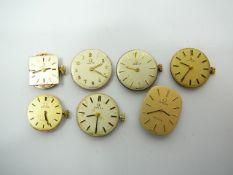 7 ladies Omega watch movements