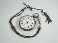 Ladies Silver Fob Watch