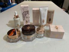 Charlotte Tilbury products to include; Goddess skin clay mask 75ml, Wonder glow primer 40ml, Goddess