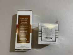Sisley Restorative facial crème with shea butter 50ml, Sisley youth protector face cream SPF 50+.