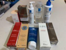 L'Occitane hand cream 150ml, Dior hydra life nu rinse cleanser 200ml, Terre D'Hermes deodorant