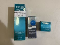 Biotherm life plankton 200ml, Biotherm homme total recharge 50ml, Biotherm life plankton eye 15ml.