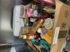 Mixed toiletries and cosmetics to include Victoria's secret lotion 236ml, Revolution pro make up