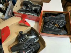 Three pairs safety boots includes; Corfa UK10 & UK8 and Urban hiker.
