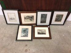 Arthur Rackham. A collection of six framed prints from illustrations for a Midsummer Nights dream.