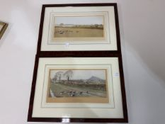 Two framed hunting prints. The Pytchley and The Chesire Hounds. Published by Richard Wyman & Co.