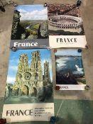 Four mid century French tourist posters. 3x 97cm x 62cm 1x 40cm x 60cm