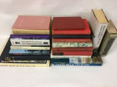 A collection of military related reference books and to the English countryside. To include The