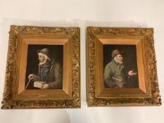 G Falke (possibly Gisela, Austrian 19th/20th century) A pair of oil on canvas portraits of elderly