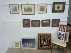A selection of prints by Jean Goodwin and others.