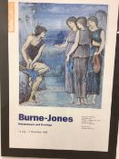 A Burne Jones exhibition poster from the Tate gallery.W:60cm x D:cm x H:84cm