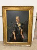 Scottish School. Oil on canvas.Three quarter length portrait of Ann Simpson W:107cm x D:9cm x H:160.