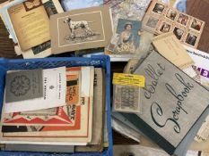 A collection of ephemera, maps and other items.