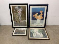 Kustav Klimt exhibition poster, Cathelin exhibition poster also with an original gouache