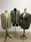 Three vintage gentleman's jackets by Daks and Mulberry. 42S - 44L Z043