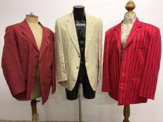 Three vintage gentlemans summer jackets. Size 42-44R