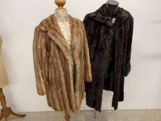 Two 1940s fur coats.
