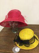 Two ladies hats