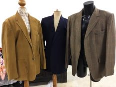A Ralph Lauren blazer size 42 long and two vintage mens jackets. Tweed and cord jackets chest