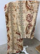 Laura Ashley patterned velvet lined curtains W:Track 117cm x D:cm x H:270cm