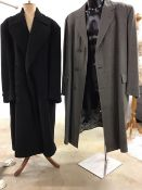 Heavy weight crombie cloth overcoat 46 together with a bespoke overcoat 50