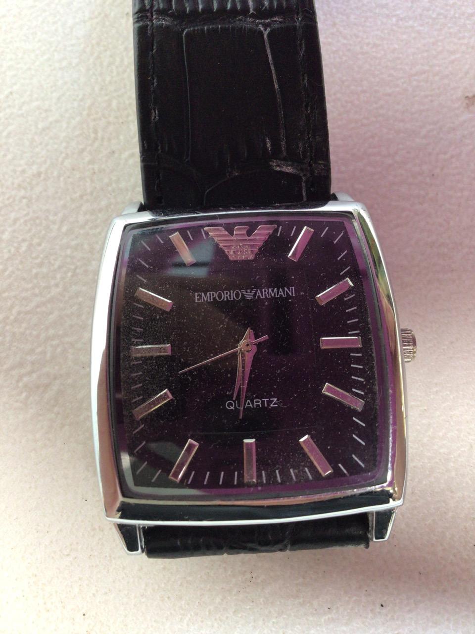 A Emporio Armani Quartz watch.