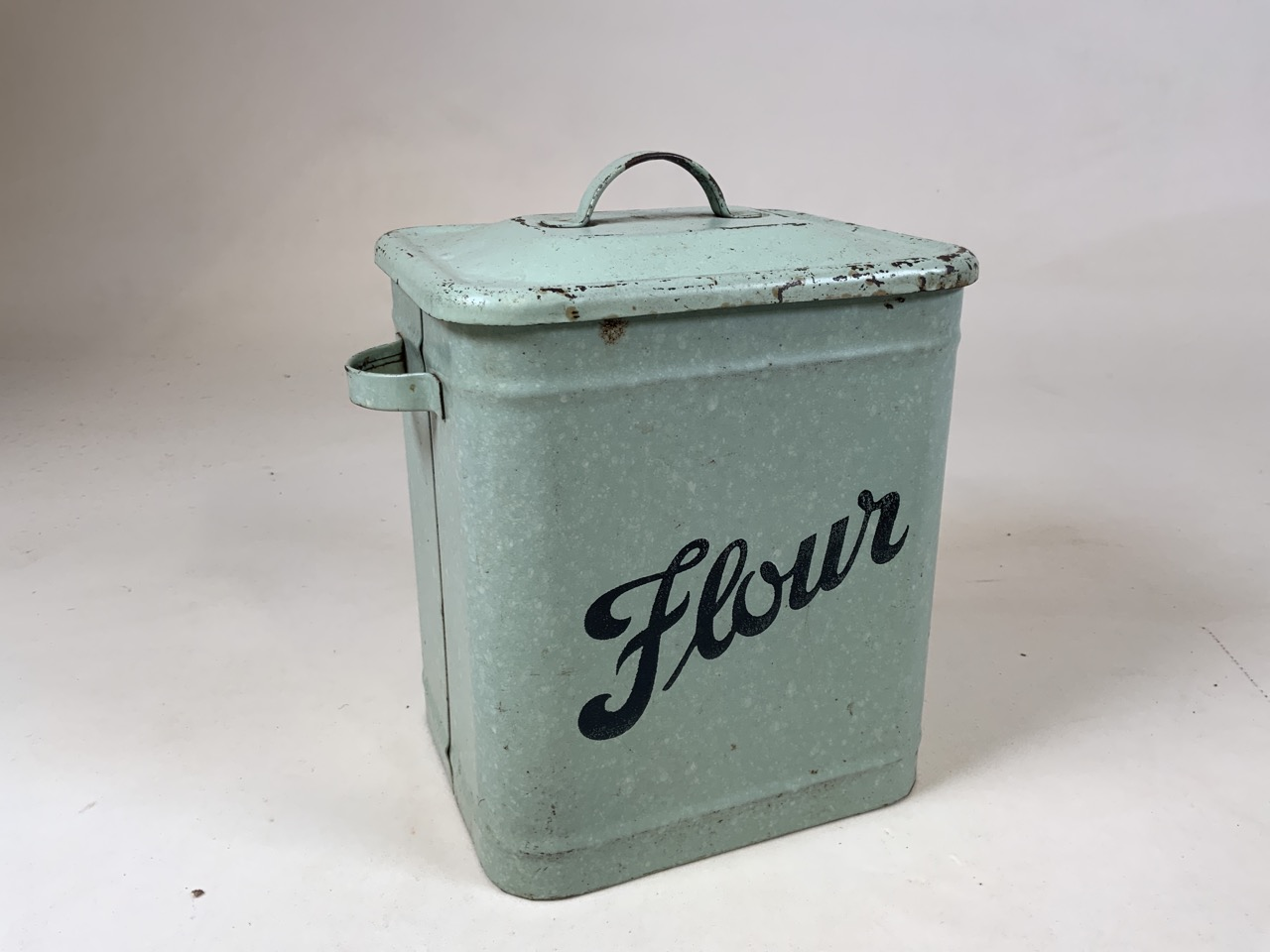 An enamel flour storage tin together with a Huntley and Palmer Muffin the Mule tin, a William - Image 3 of 7