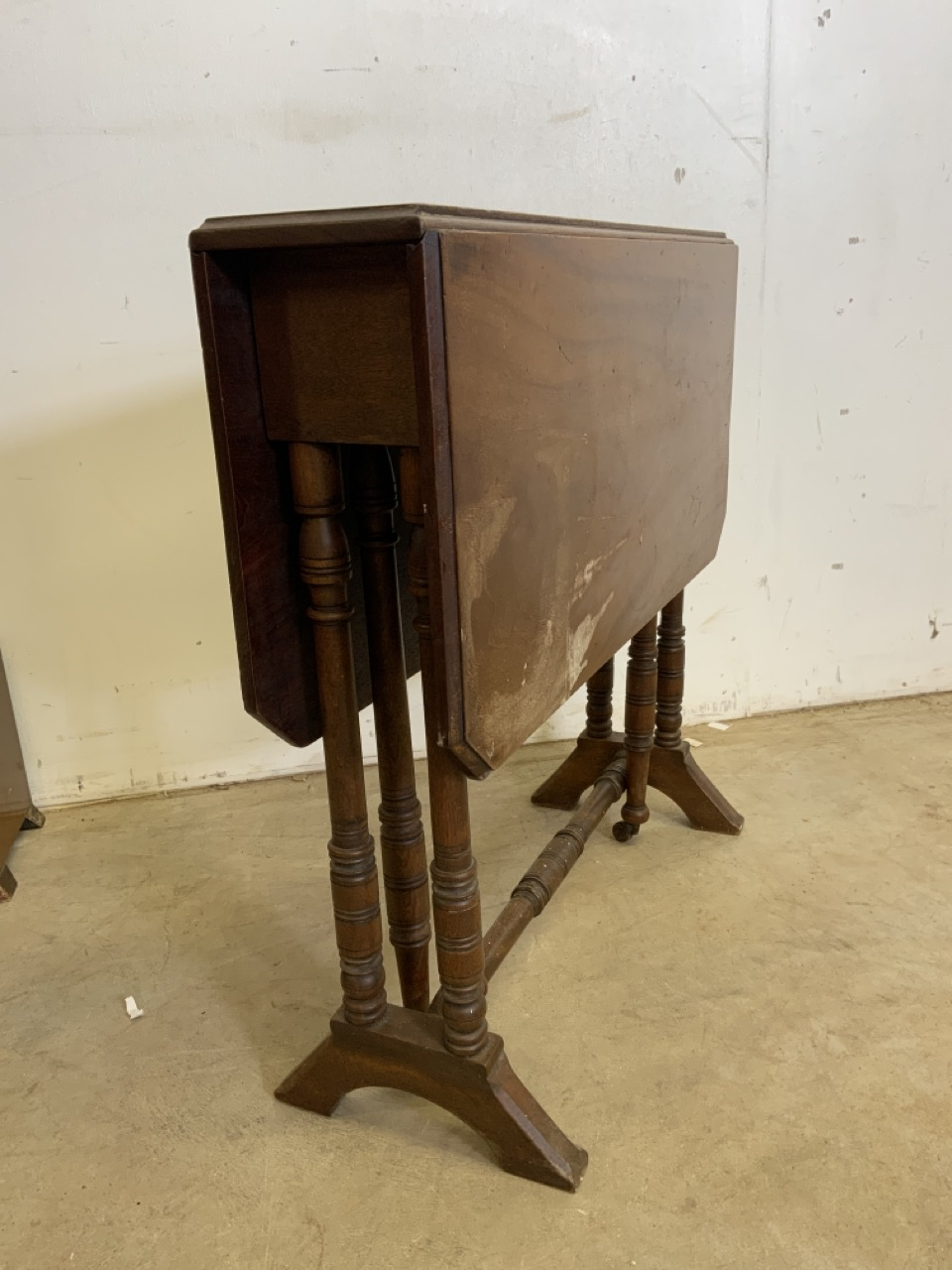 Two standard lamps also with a Sutherland table and other 20th century furniture including - Image 4 of 6