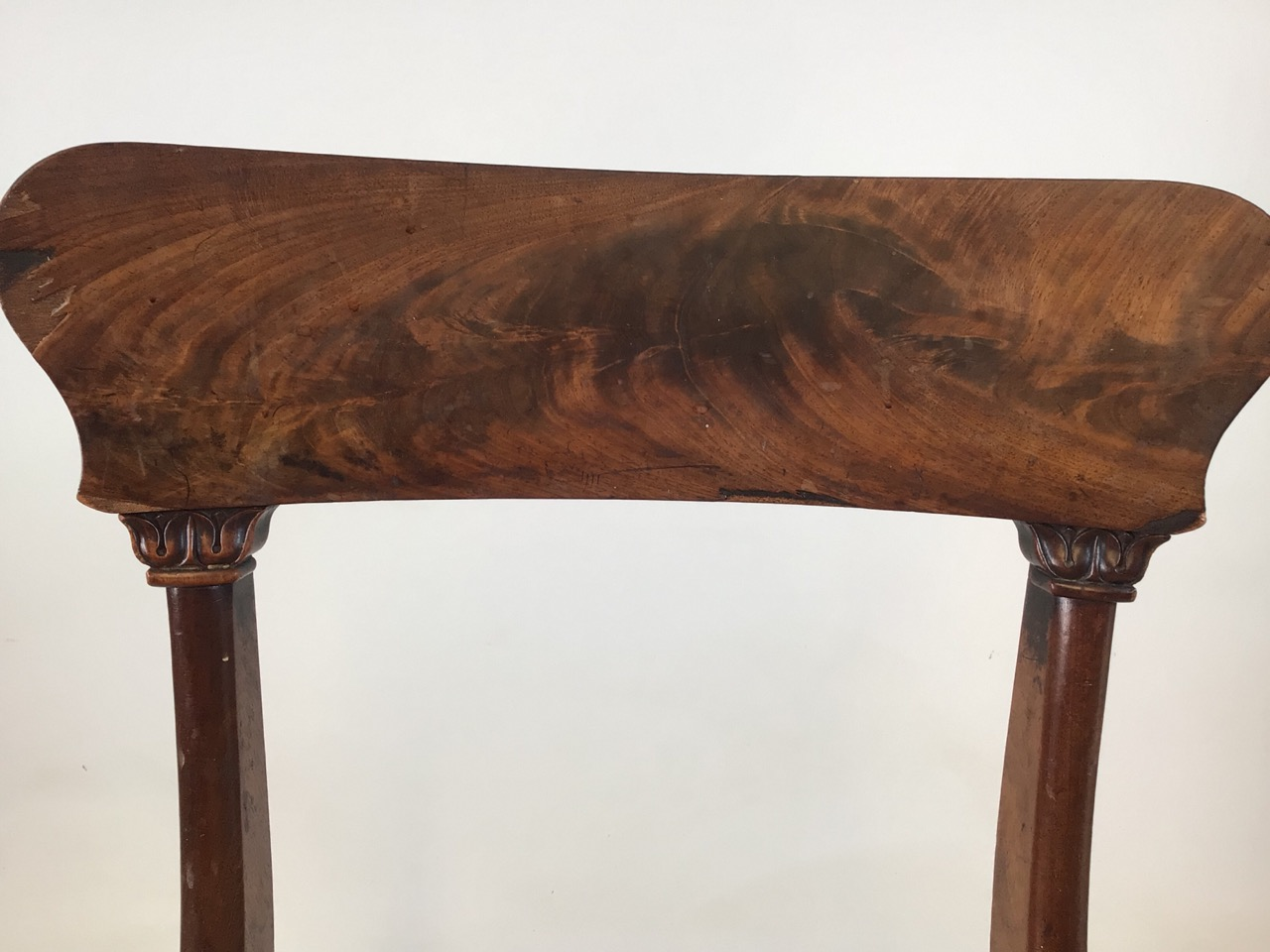 A set of Six William IV dining chairs. Seat height H:48cm - Image 6 of 7