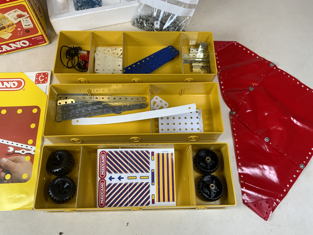 A Meccano C building kit. Three boxes, screws and instruction manuel. - Image 2 of 4