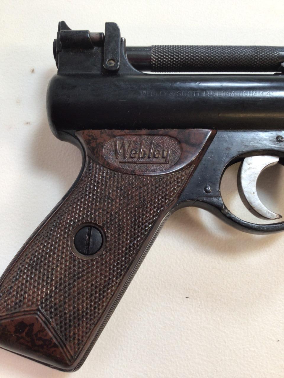 A Webley Senior air pistol. Webley and Scott ltd Birmingham. W:22cm x H:14cm - Image 3 of 6