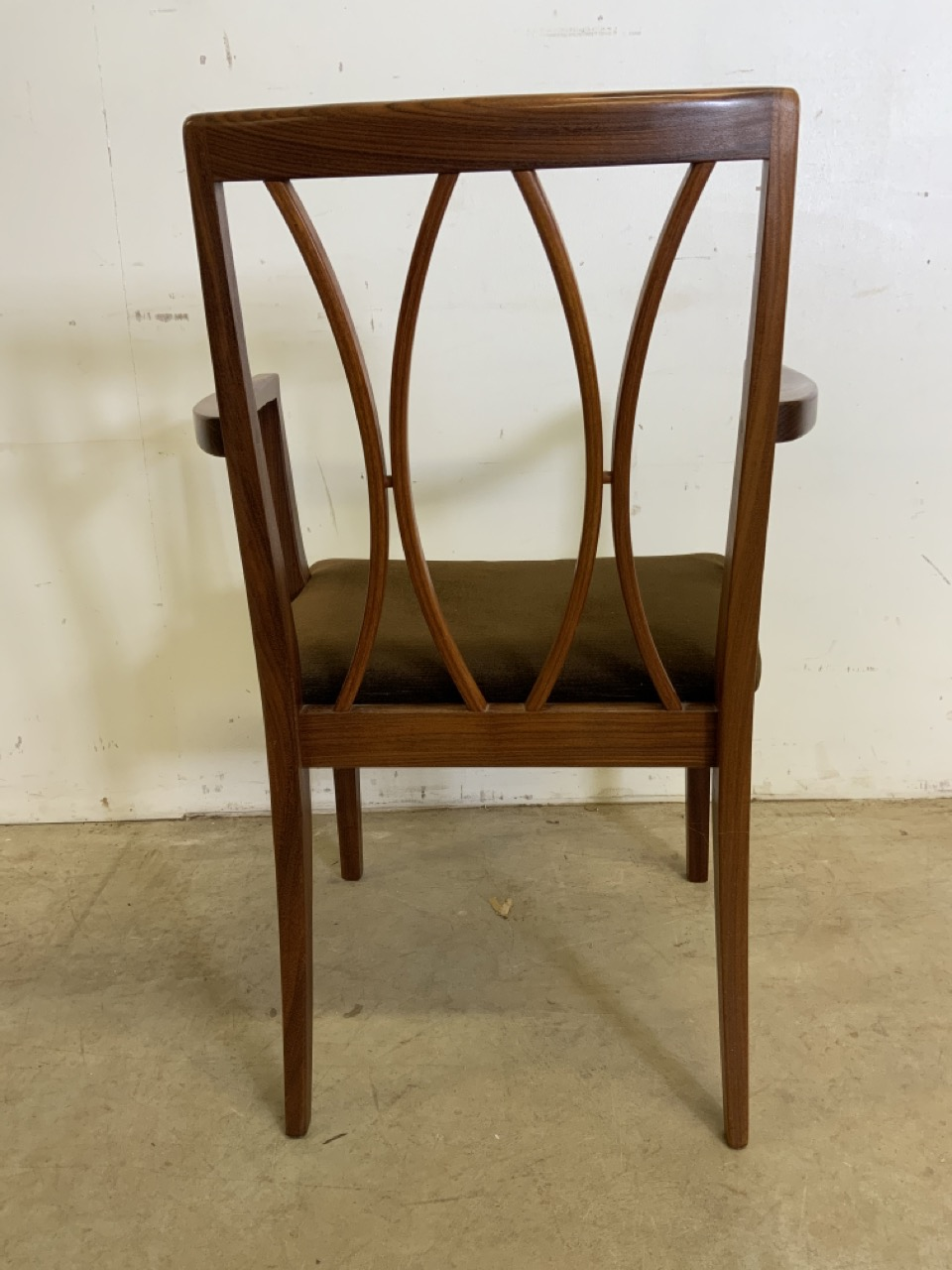 A set of six Fresco G Plan E Gomme limited teak and rosewood chairs to include two carvers. With - Image 4 of 7