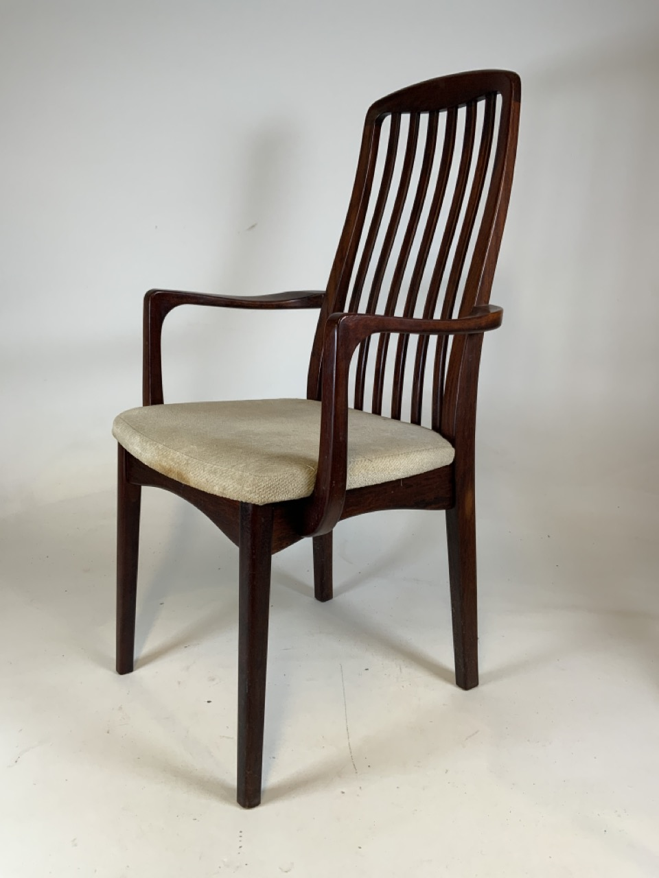 A set of six mid century rosewood Scandinavian dining chairs by Svegards Markaryd. To include two - Image 4 of 6