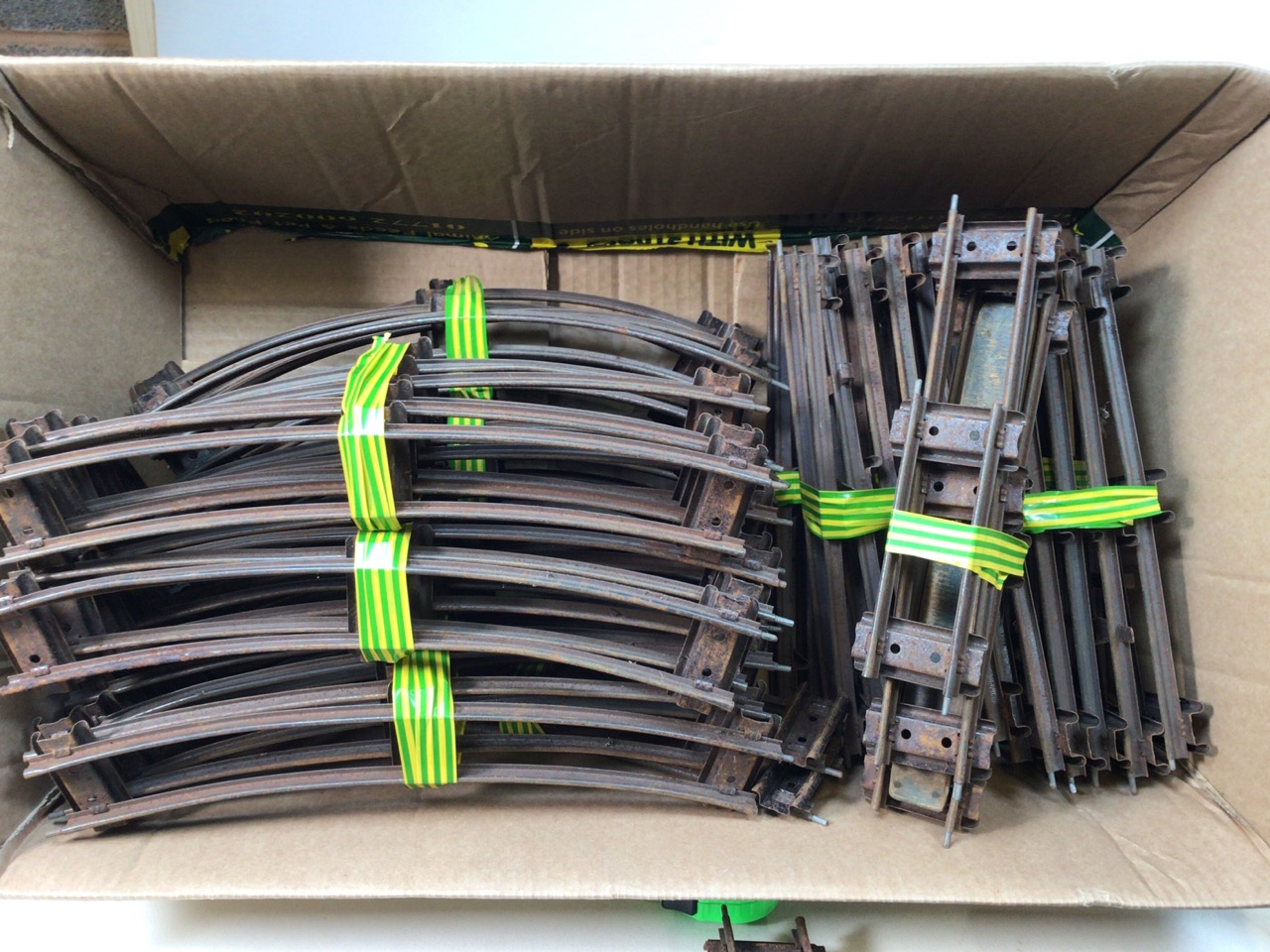 A large collection of 0 gauge Hornby tinplate items to include track, track accessories, buffers, - Image 2 of 5