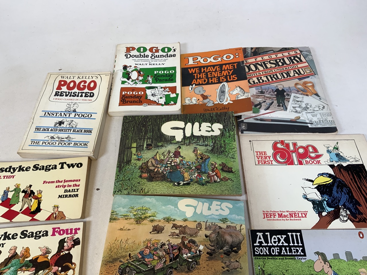 A collection of comic strip and illustrated book titles to include Walk Kellys Pogo Revisited, We - Image 2 of 3