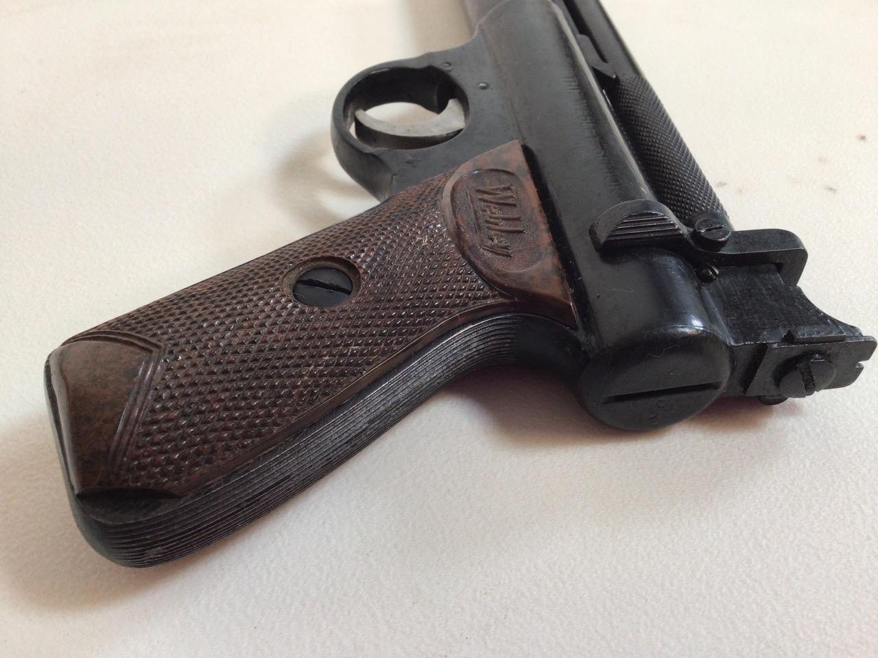 A Webley Senior air pistol. Webley and Scott ltd Birmingham. W:22cm x H:14cm - Image 6 of 6